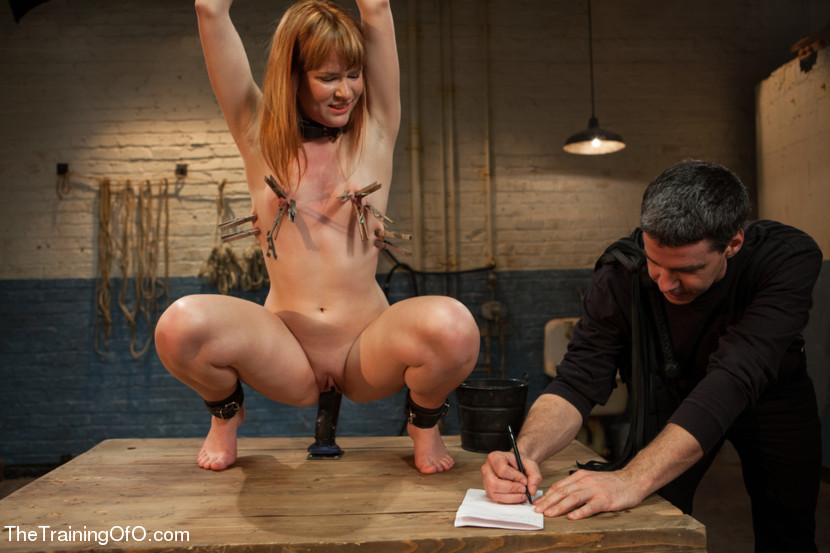 Breast bonded sub hanged and whipped by dom 5