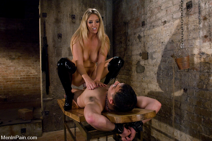 Big tits mistress cristian amp her slave in action