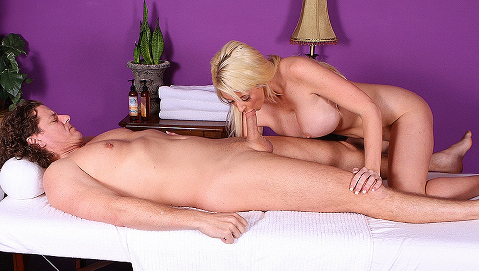 Watch a massage parlor scene for a beautiful russian blonde