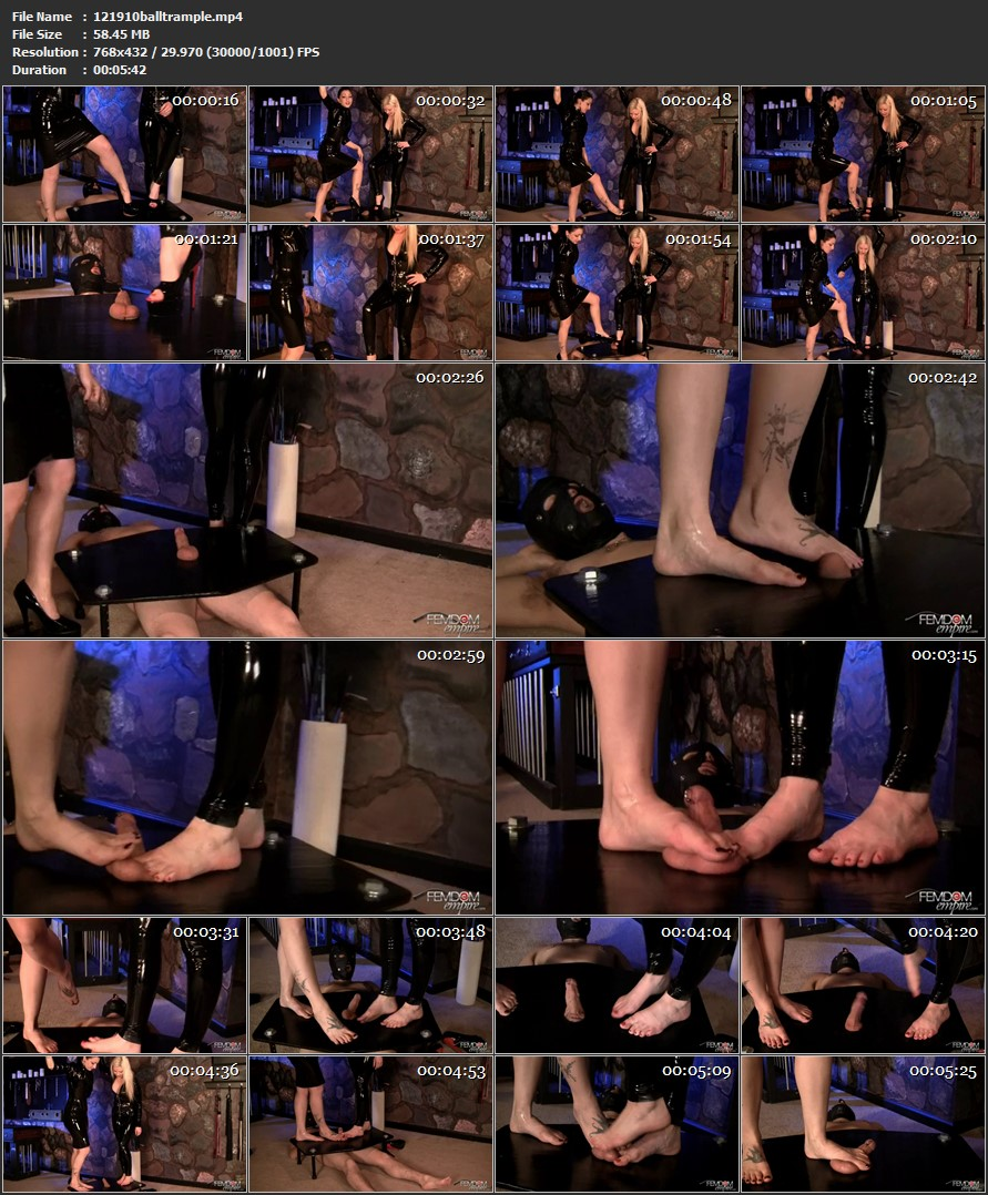 Ball Trampling Porn cybill troy in femdomempire cock and ball trampling march 16