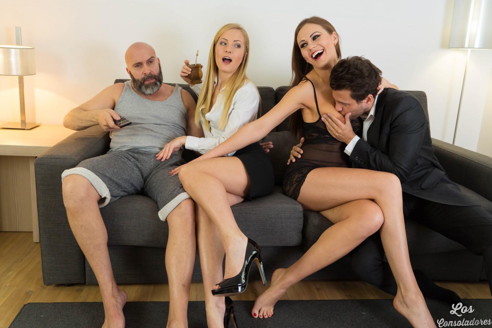 Mea melone sicilia sharing cock in threesome